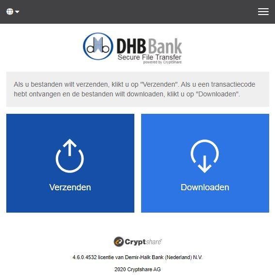 DHB Bank SecureFileTransfer